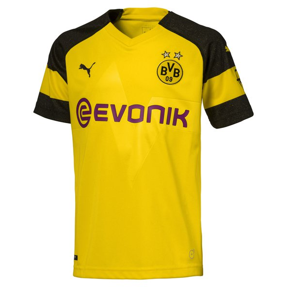 Puma Borussia Dortmund 2018/19 Kids' Home Jersey, Yellow