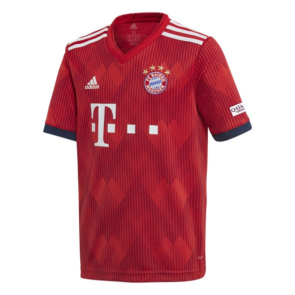 adidas Bayern Munich 2018/19 Kids' Home Jersey, Red