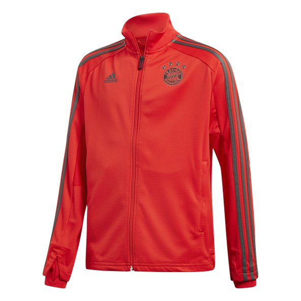 adidas Bayern Munich 2018/19 Kids' Training Jacket, Red