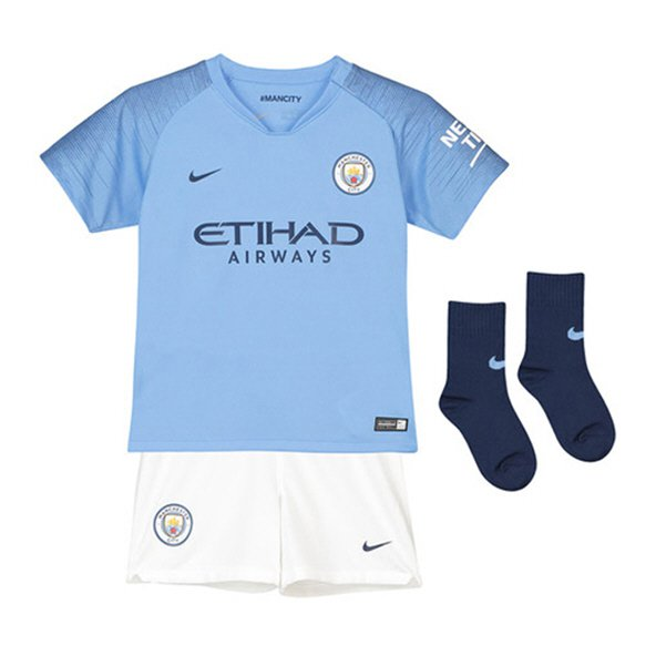 Nike Man City 2018/19 Home Mini Kit, Blue