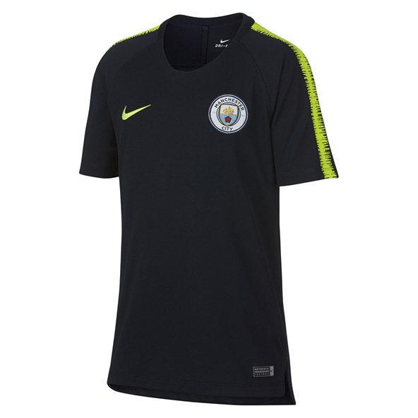Nike Man City 2018/19 Kids' Squad T-Shirt, Navy