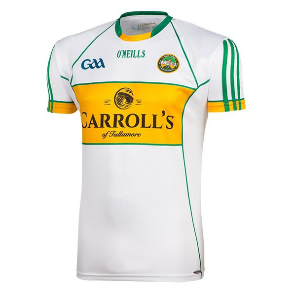 O'Neills Offaly 2016 Kids' Away Jersey, White