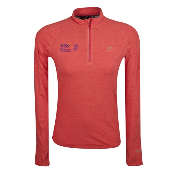 VHI WMM Pro Touch Ina III Women's Half Zip Running Top, Pink
