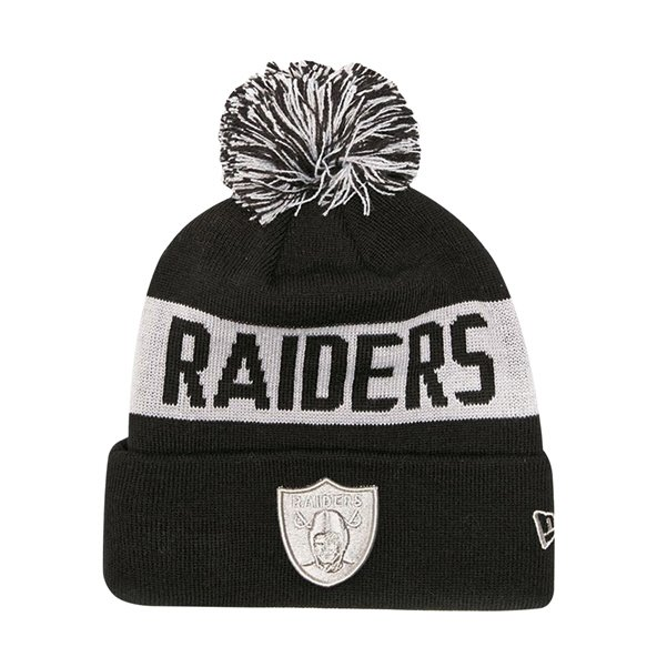 NewEra Tonal Knit Raiders Black/Grey