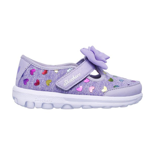 Skechers Go Walk Infant Girls Trainer, Purple