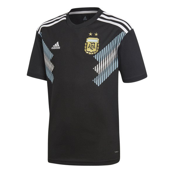 adidas Argentina 2018 Kids' Away Jersey, Black