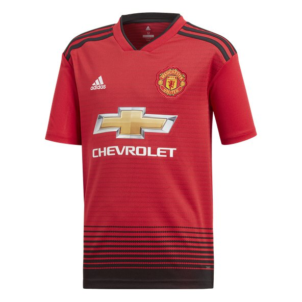 adidas Man United 2018/19 Kids' Home Jersey, Red