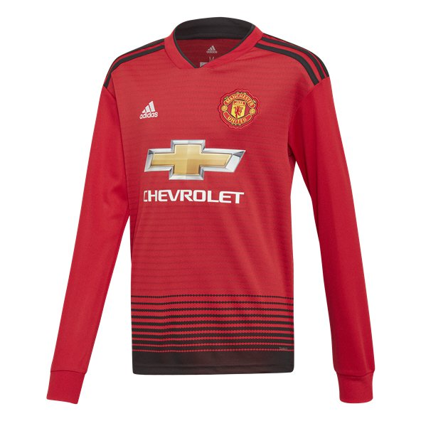 bdeefdc04 adidas Man United 2018 19 Kids  LS Home Jersey
