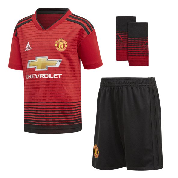 adidas Man United 2018/19 Home Kids' Kit, Red