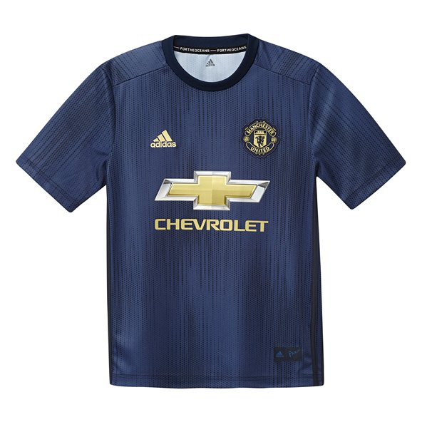 adidas Man United 2018/19 Kids' 3rd Jersey, Navy