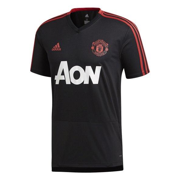 a8cd7629f6c adidas Man Utd 18 SS Trn Jersey Blk Red