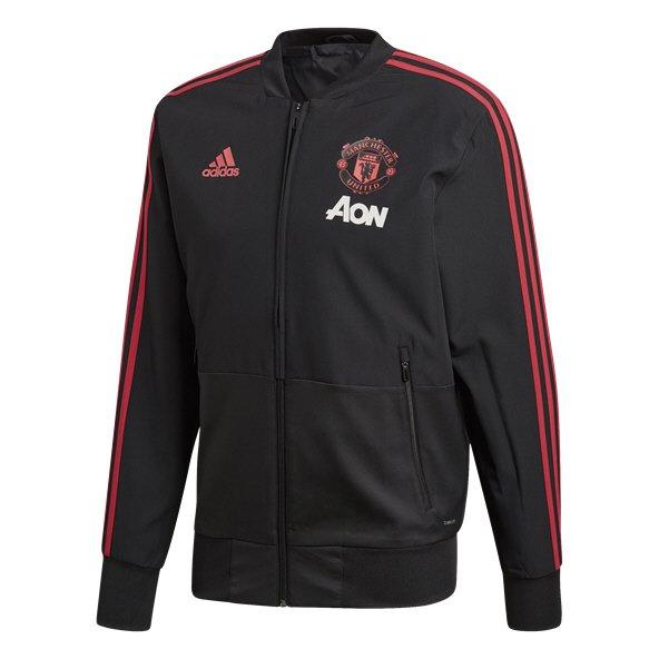 88794dbcea4 adidas Man Utd 18 Presentation Jacket Black Red