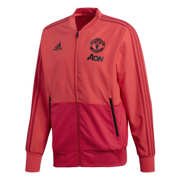 adidas Man Utd 18 Presentation Jacket Pink/Red