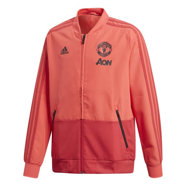 adidas Man Utd 18 Kids Pres Jacket Pink/Red