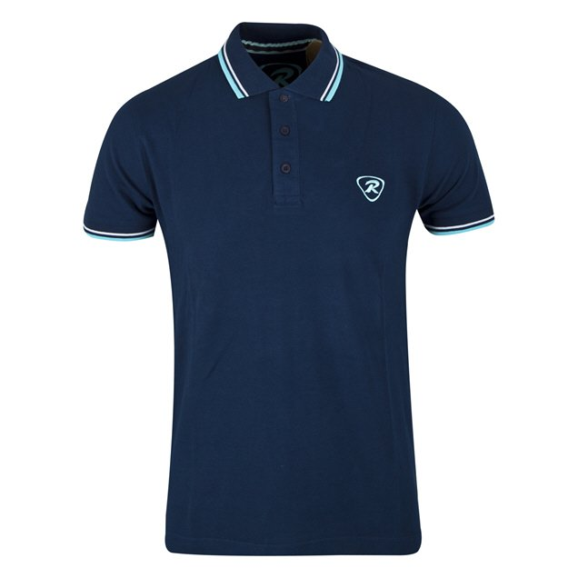 Rugbytech Tipped Men's Polo, Navy