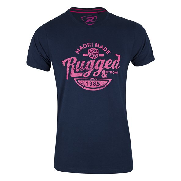 Rugby Tech Rugged T-Shirt Navy/Pink