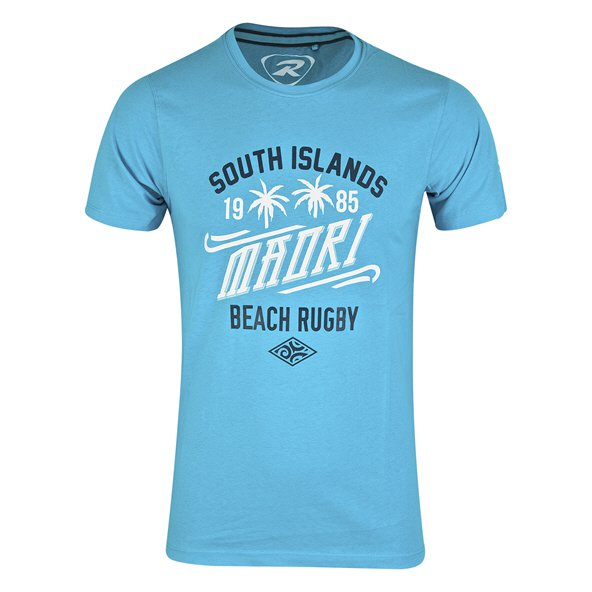 Rugby Tech Maori T-shirt Turquoise