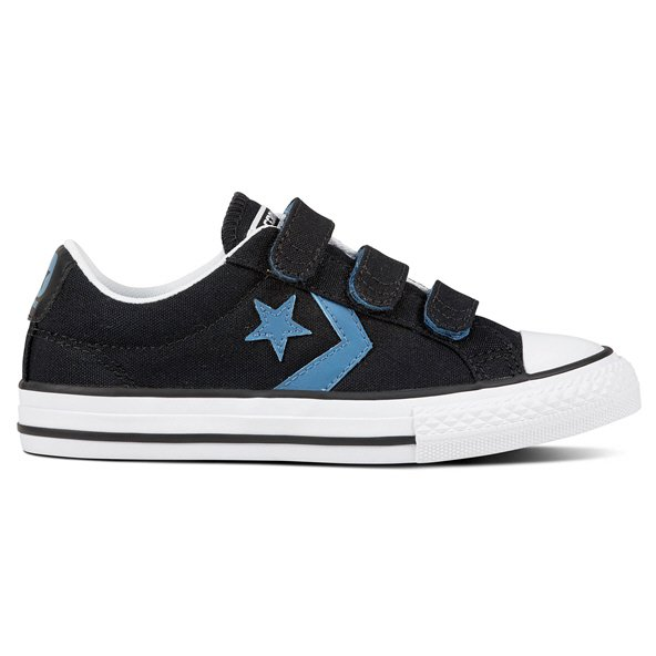 Converse Star Player Ox 3V Boys' Trainer, Black