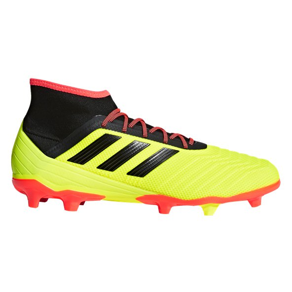 adidas Predator 18.2 FG Football Boot, Yellow