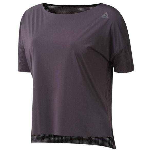 Reebok Wmn Preforated Tee Purple