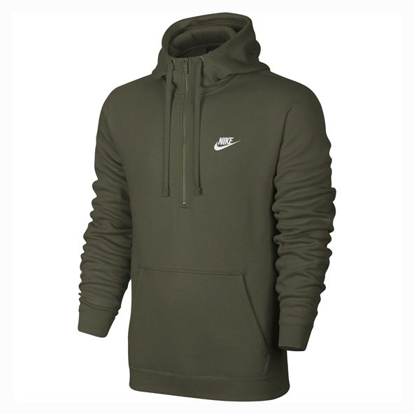 Nike Swoosh Club Mens ½-Zip Hoody, Green