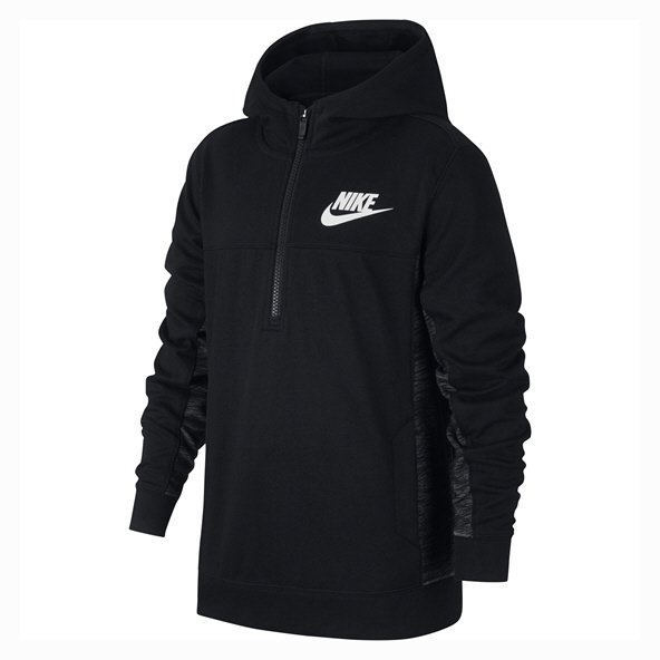 Nike Swoosh Advance Boys ½-Zip Top, Black