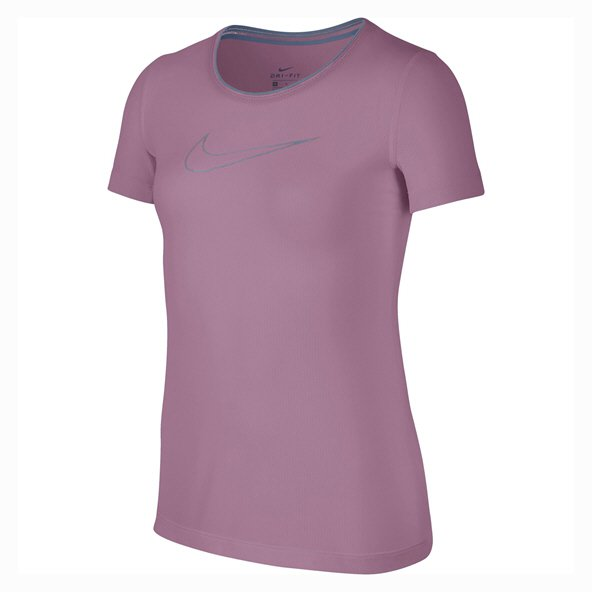 Nike Girls' Pro Short Sleeve T-Shirt, Pink