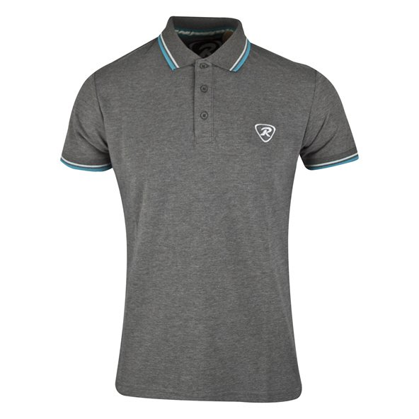 Rugbytech Tipped Men's Polo, Grey