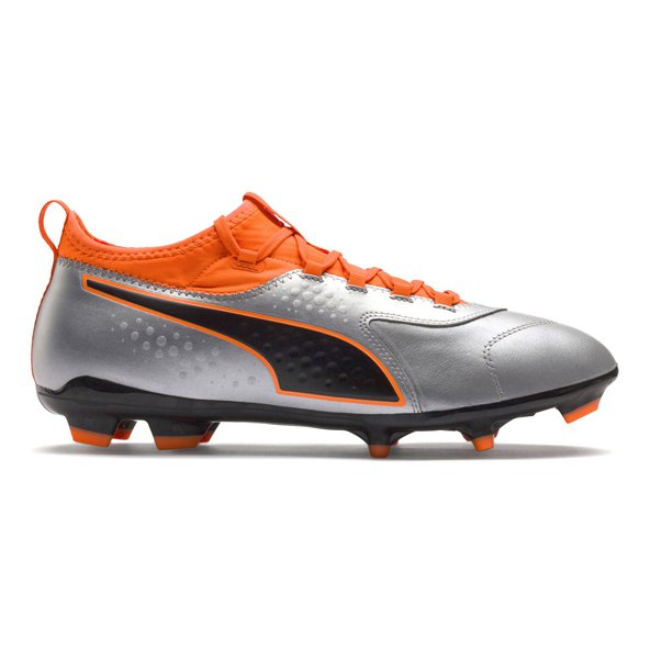 Puma ONE 3 Leather FG Football Boot, Silver
