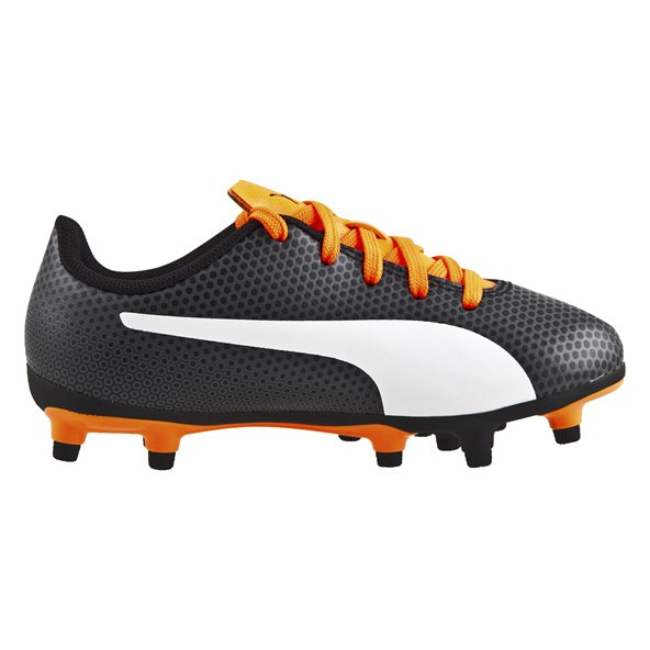 Puma Spirit Junior Firm Ground Football Boots Black/White
