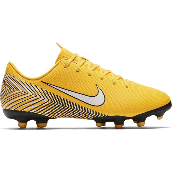 Nike Mercurial Neymar Vapor 12 Academy FG Kids' Football Boot, Yellow