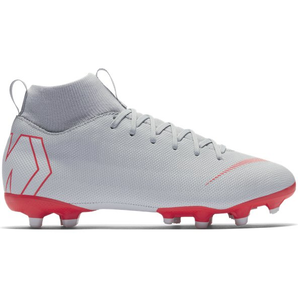 Nike Mercurial Superfly 6 Academy FG Kids' Football Boot, Grey