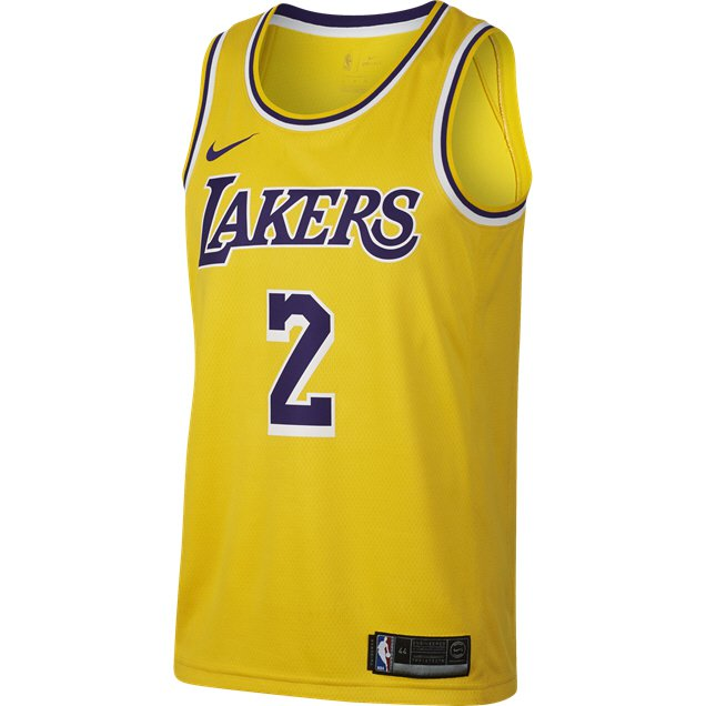 timeless design 4c5d8 ee2db Nike LA Lakers Jersey - Ball 2, Yellow | Elverys Site