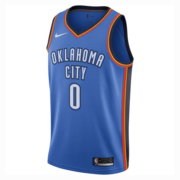 Nike Oklahoma City Thunder Jersey - Westbrook 0, Blue