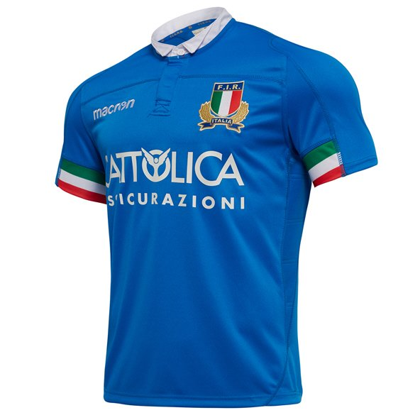 Macron Italy Home 18 Jersey Blue