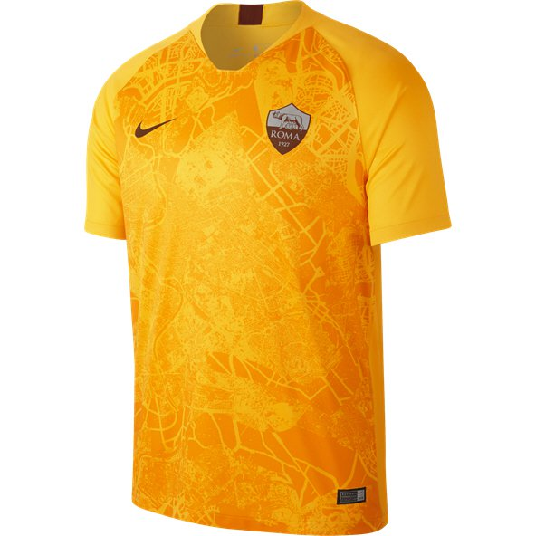 Nike AS Roma 2018/19 3rd Jersey, Gold