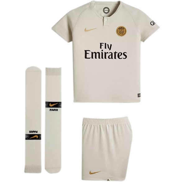 Nike PSG Away 18 Kids Mini Kit White/Gol