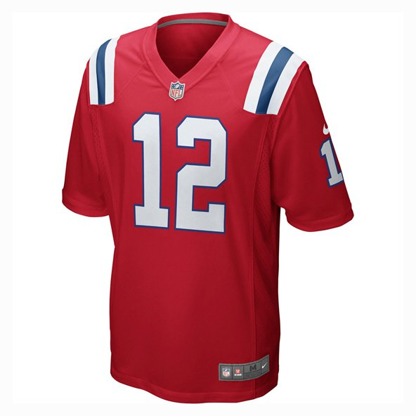 Nike New England Patriots Brady No.12 Throwback Jersey, Red