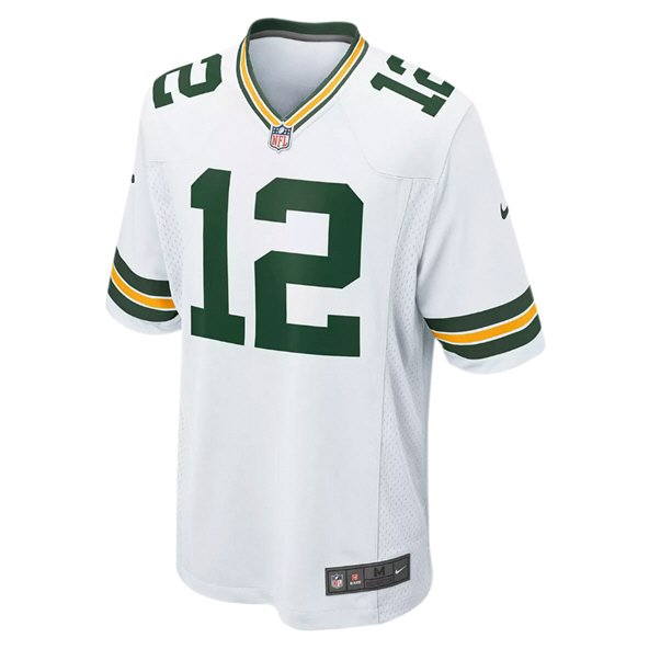 Nike Green Bay Packers Rodgers No.12 Jersey, White
