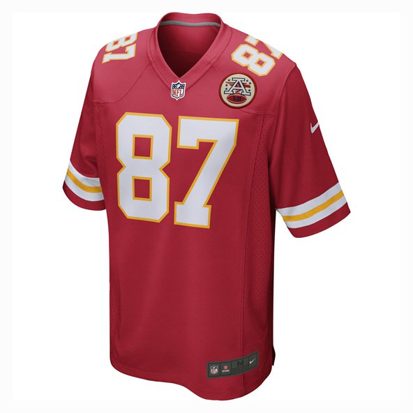 Nike Chiefs Kelce Home Kids Jersey Red