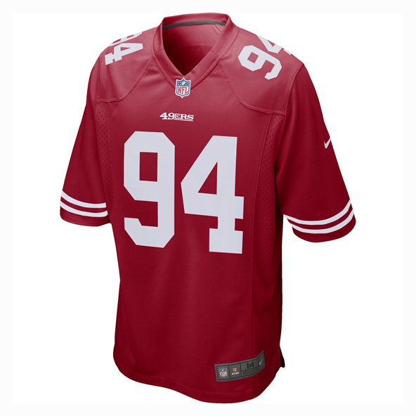 Nike San Francisco 49ers Thomas 94 Jersey, Red