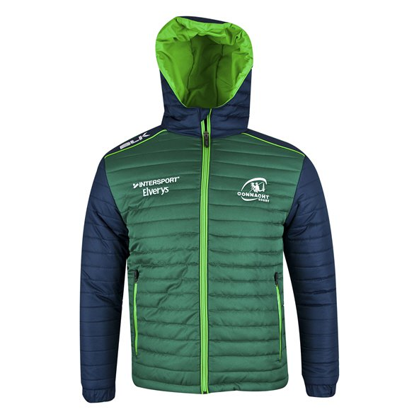 BLK Connacht 2018 Kids' Puffa Jacket, Green