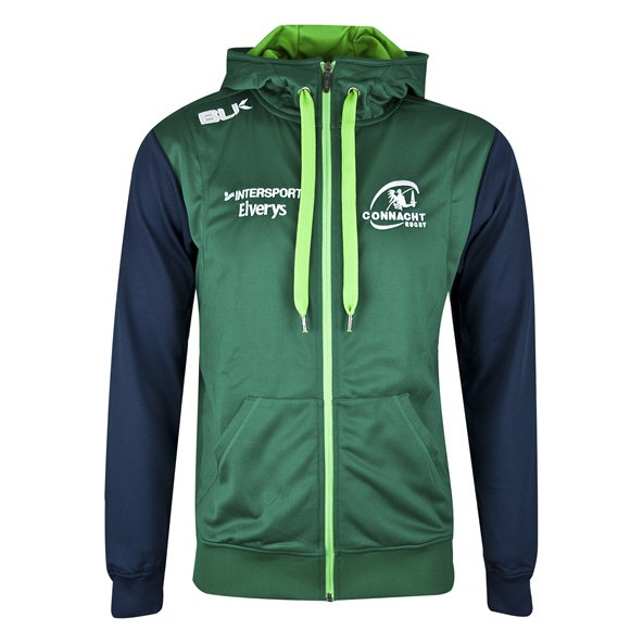 BLK Connacht 2018 Kids' Full Zip Hoody, Green