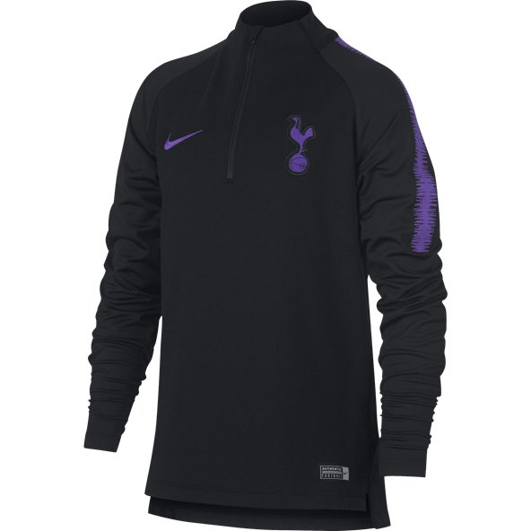 Nike Tottenham 2018/19 Kids' Squad Drill Top, Black