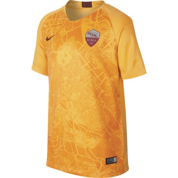 Nike AS Roma 2018/19 Kids' 3rd Jersey, Gold