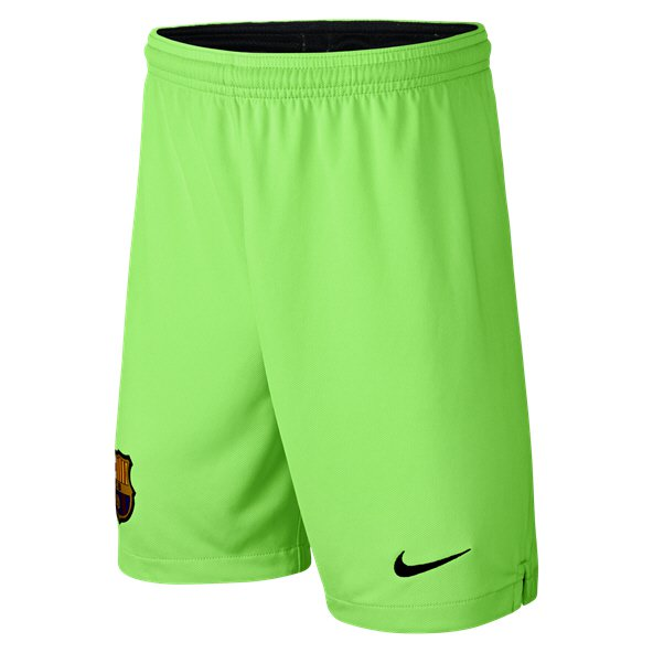 Nike FC Barcelona 2018/19 Kids' Goalkeeper Short, Green