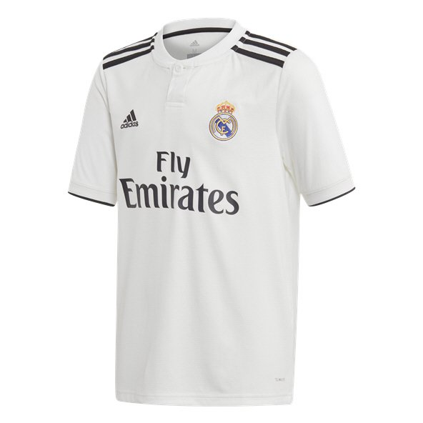 adidas Real Madrid 2018/19 Kids' Home Jersey, White