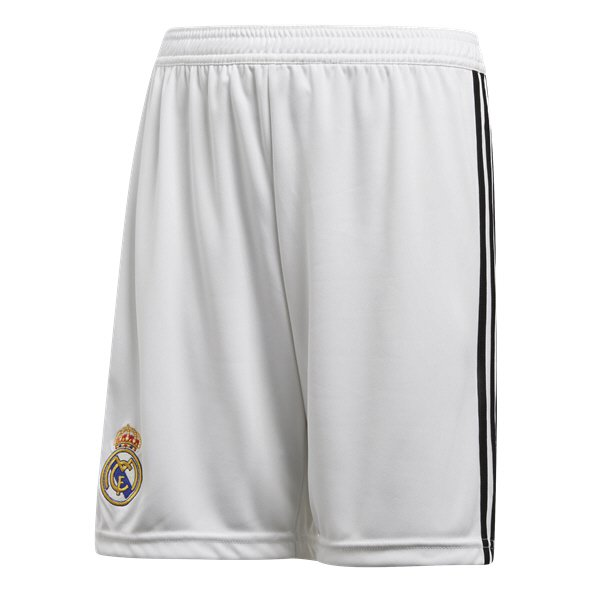 adidas Real Madrid 2018/19 Kids' Home Short, White