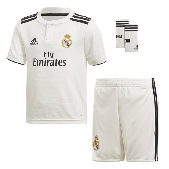 adidas Real Madrid 2018/19 Home Mini Kit, White
