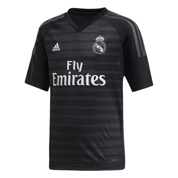 adidas Real Madrid 2018/19 Kids' Home GK Jersey, Black